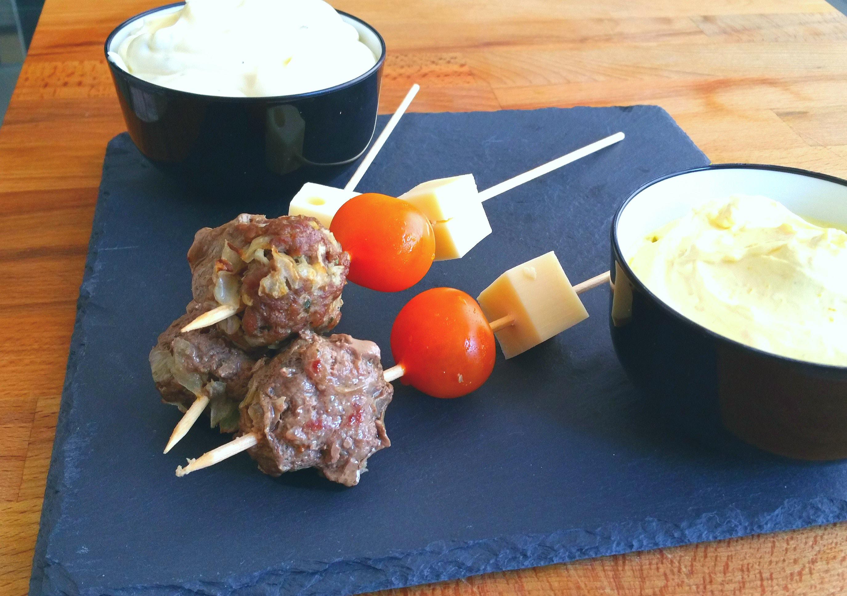 Brochetas de Carne con Salsa de Cítricos con Thermomix®