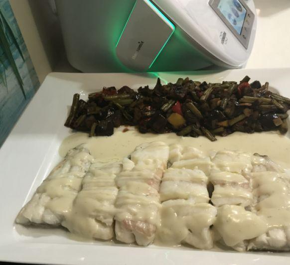 Bacalao con salsa roquefort con Thermomix® en Lleida