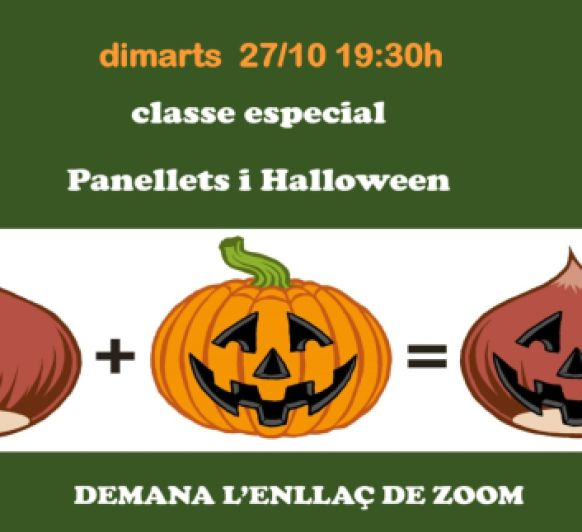 Clase especial Panellets i halloween