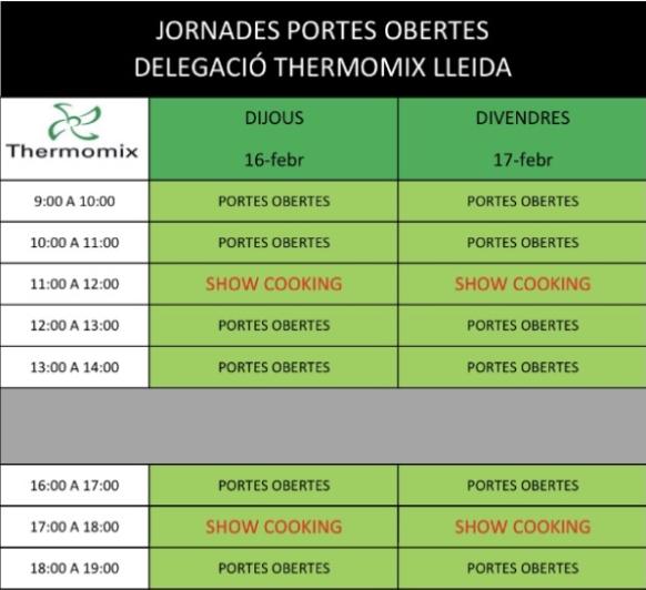 JORNADA DE PORTES OBERTES Thermomix® LLEIDA