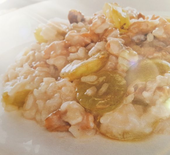 Risotto con nueces, uvas y gorgonzola con Thermomix®